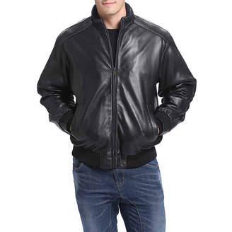 BGSD Men's Lambskin Leather Bomber Jacket