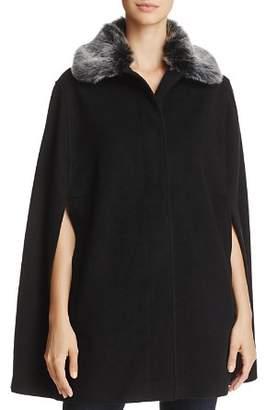 Helene Berman Faux Fur-Collar Cape - 100% Exclusive
