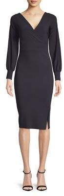 Chiara Boni V-Neck Puff-Sleeve Dress
