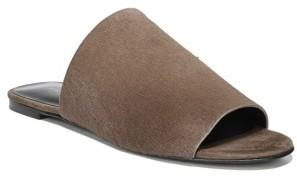 Women's Via Spiga Heather 2 Genuine Calf Hair Slide Sandal $225 thestylecure.com