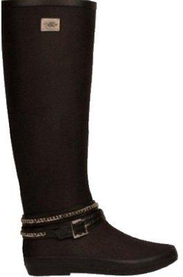 dav Women's Festival Solid Belted Rain Boot