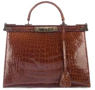 Ralph Lauren Crocodile Frame Bag