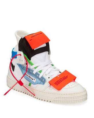 Off-White Off Court Lace-Up High-Top Sneakers
