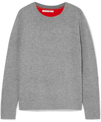 Chinti and Parker Color-block Cashmere Sweater - Gray