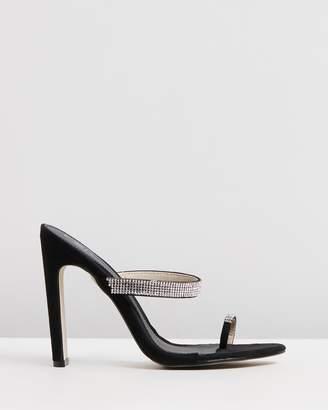Missguided Diamante Toe Post Heels