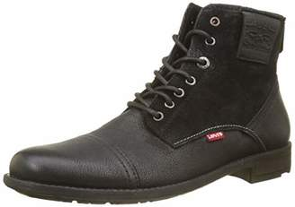 Levi's Men's Fowler Biker Boots, (Noir Regular Black 59)