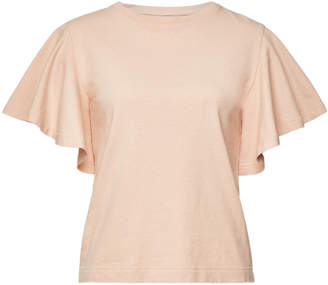 Citizens of Humanity Cotton Anisi Draped Sleeve T-Shirt