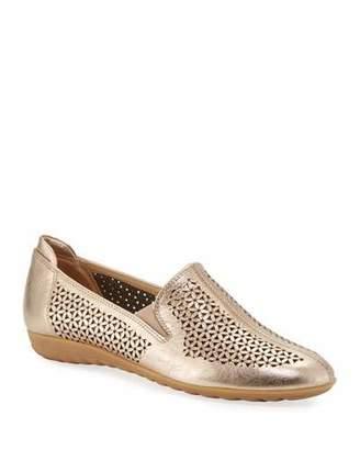 Sesto Meucci Bev Metallic Cutout Sneaker Flats, Rose Gold