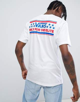 Vans Heritage T-Shirt With Back Print In White