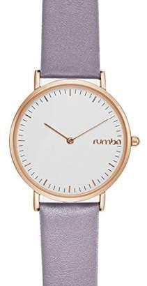 RumbaTime Women's 'SoHo Leather' Quartz Metal Casual Watch