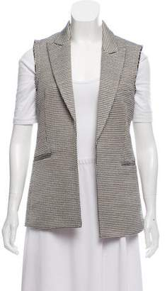 Theory Patterned Peaked-Lapel Vest