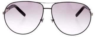 Saint Laurent Gradient Aviator Sunglasses