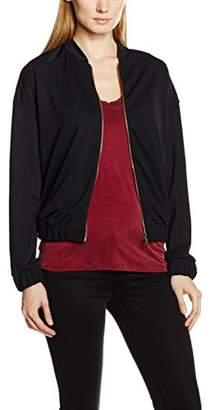 Esprit Women's 116CC1J017 Sweatshirt, Black, (Small)