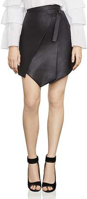 BCBGMAXAZRIA Yulissa Asymmetric Faux Leather Skirt