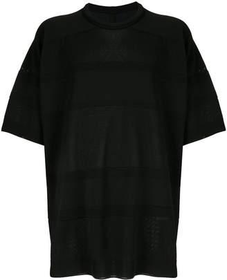Juun.J oversized striped knit T-shirt