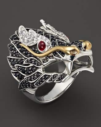 John Hardy Sterling Silver & 18K Gold Naga Lava Dragon Ring