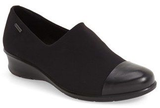 Women's Ecco 'Felicia Gtx' Waterproof Wedge Loafer $149.95 thestylecure.com