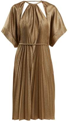 Maison Margiela Pleated cut-out dress