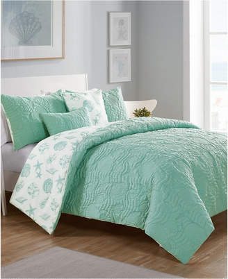 Vcny Home Beach Island 5-Pc. Full/Queen Reversible Comforter Set Bedding