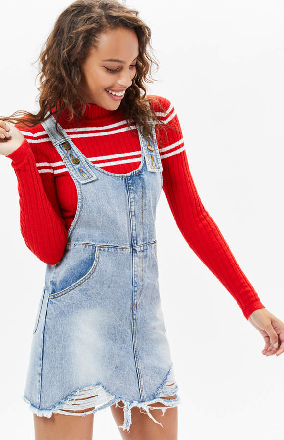 Minkpink Highway Denim Pinnie Dress