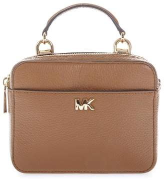 27da48f931 at Italist · MICHAEL Michael Kors Small Camel Mott Shoulder Strap In Leather