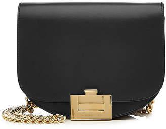 Victoria Beckham Nano Half Moon Box Leather Shoulder Bag