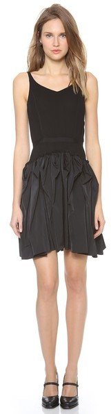 Nina Ricci Sleeveless Ruffle Skirt Dress
