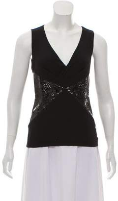 Versace Paneled Sleeveless Top