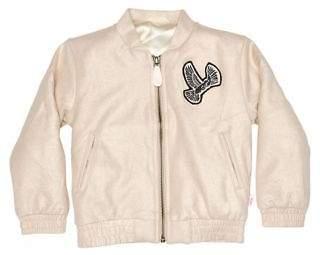 Munster New Girls Girls Puff Missie Jacket Suede Polyester Natural