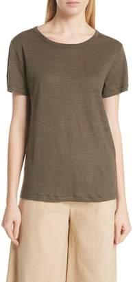 Vince Linen Short Sleeve Top
