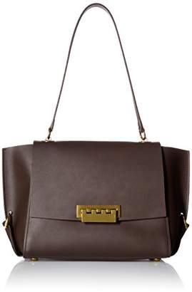 Zac Posen Eartha Folded Gusset Shoulder Flap-Brown