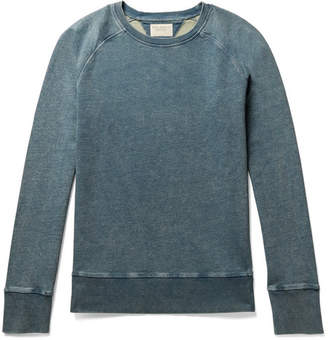 Nudie Jeans Samuel Slim-Fit Indigo-Dyed Loopback Cotton-Jersey Sweatshirt