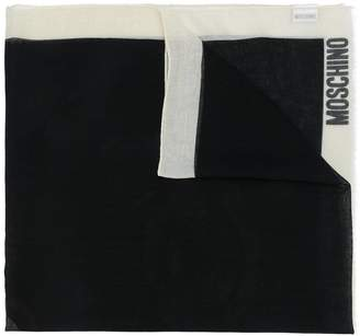 Moschino teddy print scarf