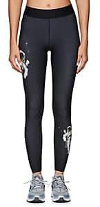 Ultracor Women's Crystal-Star Astronaut-Print Sprinter Leggings - Black