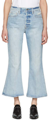 Frame Blue Rigid Re-Release Le Crop Flare Jeans