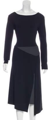 Narciso Rodriguez Asymmetrical Colorblock Dress grey Asymmetrical Colorblock Dress