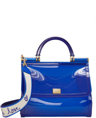 Dolce & Gabbana Sicily Blue Rubber Bag