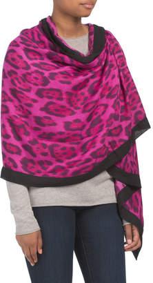 Bindya Lulla By Leopard Wrap With Border