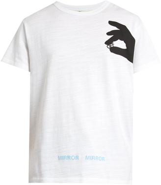 OFF-WHITE Hand Off cotton-jersey T-shirt $195 thestylecure.com