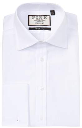 Thomas Pink Timothy Herringbone Classic Fit Dress Shirt