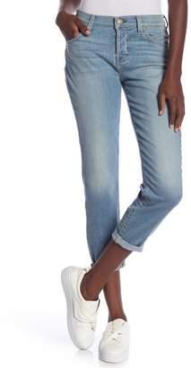 7 For All Mankind Josefina Squiggle Skinny Boyfriend Jeans
