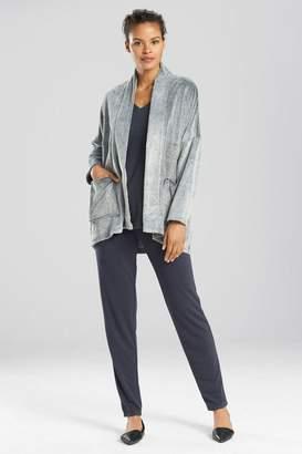 Natori N Frosted Casmere Fleece Jacket
