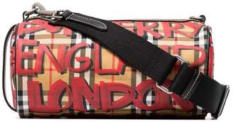 Burberry black, red and yellow kennedy graffiti small crossbody bag