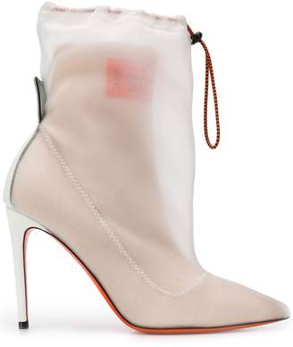 Heron Preston layered ankle boots