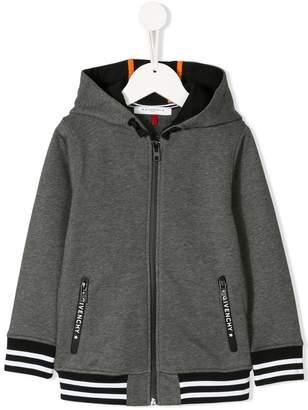 Givenchy Kids flocked logo hoodie