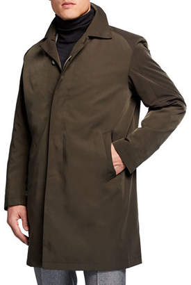 Sanyo Men's Ducasse Water-Repellant Balmacaan Coat
