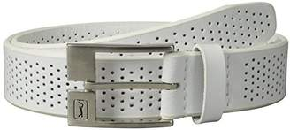 PGA TOUR Men's Perforated Leather Belt