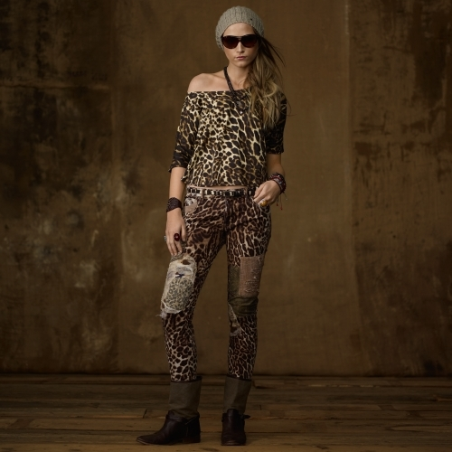 Denim & Supply Ralph Lauren Draped Cheetah-Print Tee