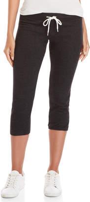 Monrow Black Vintage-Inspired Sweatpants
