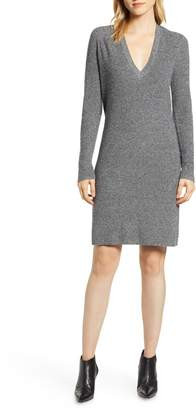Halogen V-Neck Sweater Dress